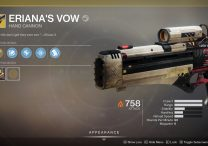 destiny 2 eriana's vow exotic hand cannon