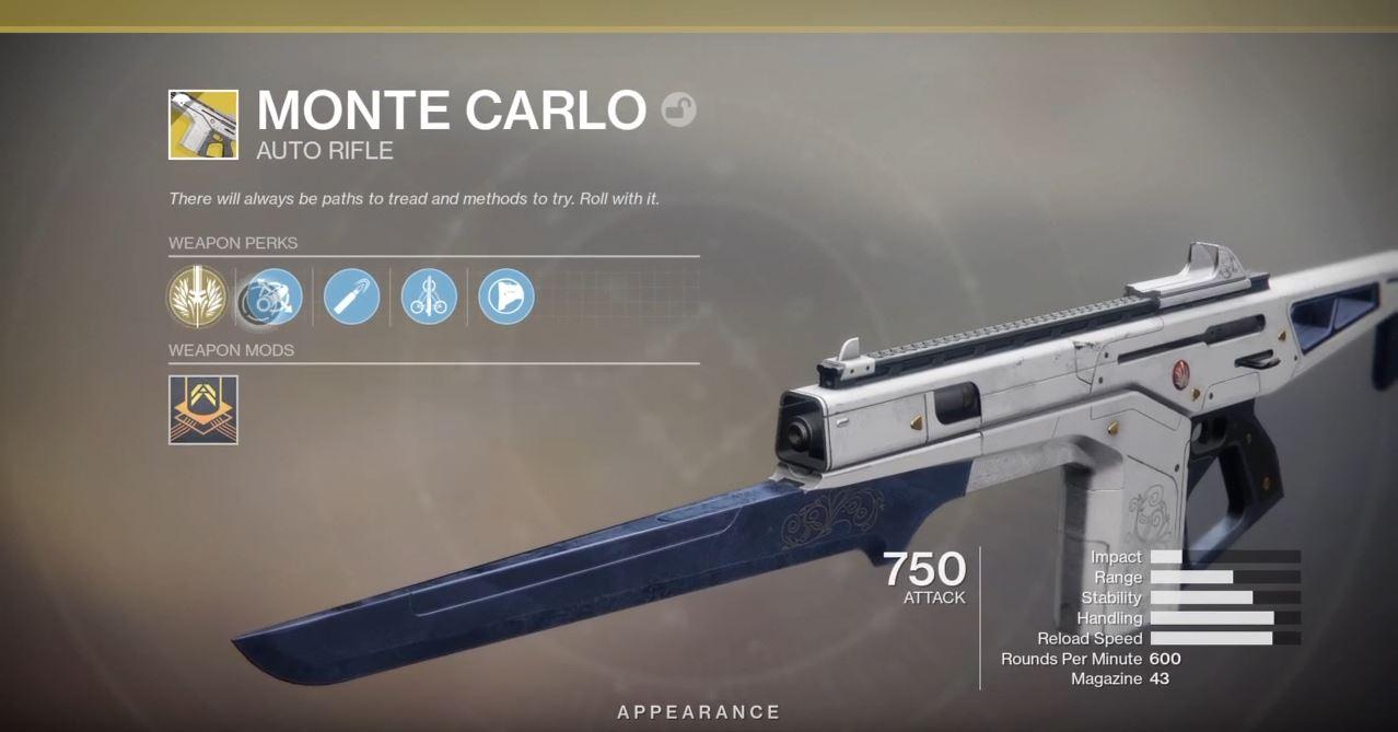 Destiny Monte Carlo Bekommen