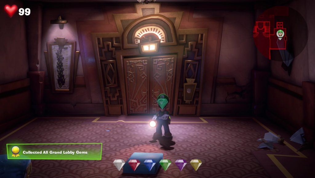 luigi's mansion 3 grand hotel lobby 1f gem locations