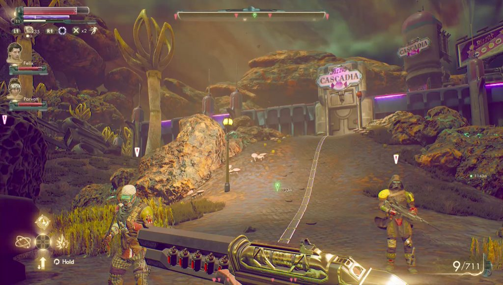 outer worlds give module to sanjar or graham candid's cradle quest