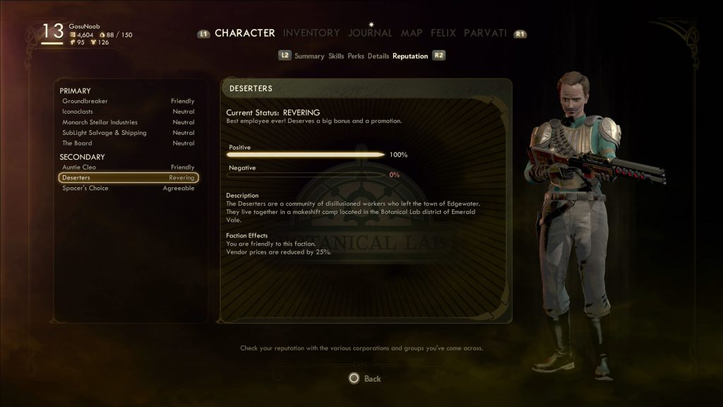 outer worlds how to reset improve hostile faction reputation