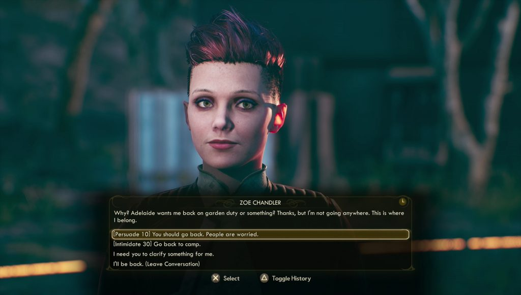 outer worlds zoe bugged few kindred spirits quest