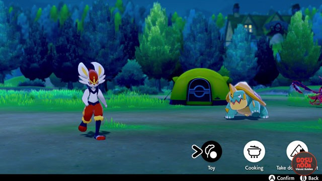 Camping with Friends in Pokemon Sword & Shield