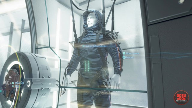 Death Stranding How to Change Suit Color