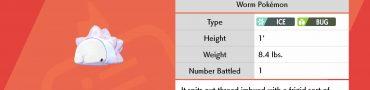 Pokemon Sword & Shield Snom Location Frosmoth Evolution