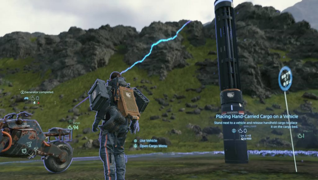 death stranding how to get first vehicle