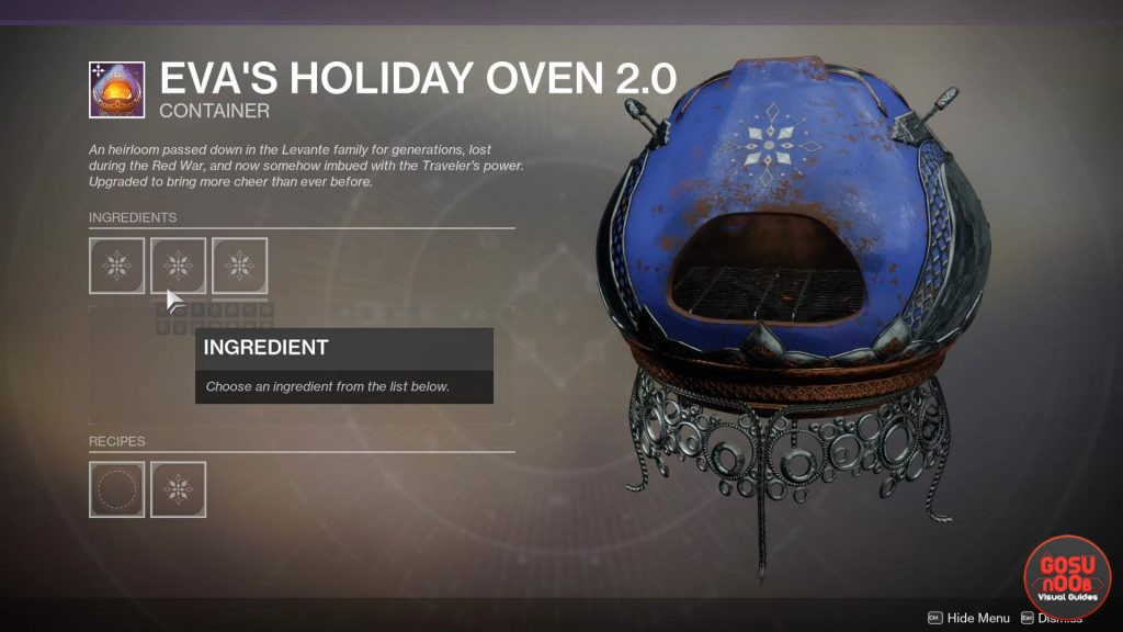 Destiny 2 Dawning Cookie Recipe Ingredients 2019 Season of Dawn