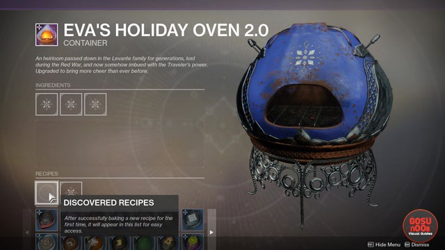 Destiny 2 Dawning Oven Recipes 2019
