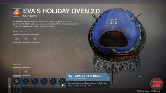 Destiny 2 Hot Crossfire Buns & Thousand-Layer Cookie Recipes Dawning