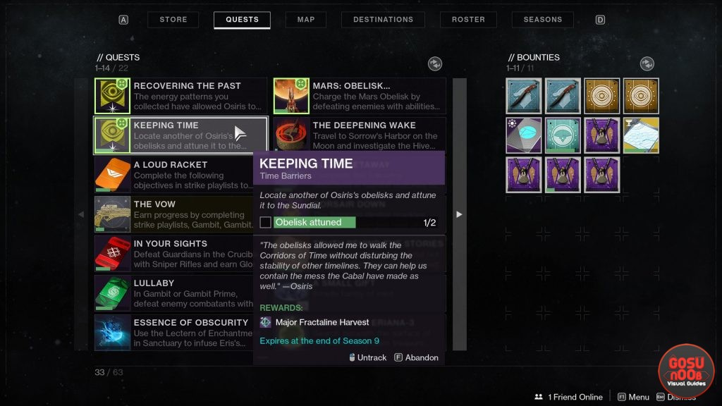 Obelisks Attuned Keeping Time Destiny 2 Season of Dawn Quest