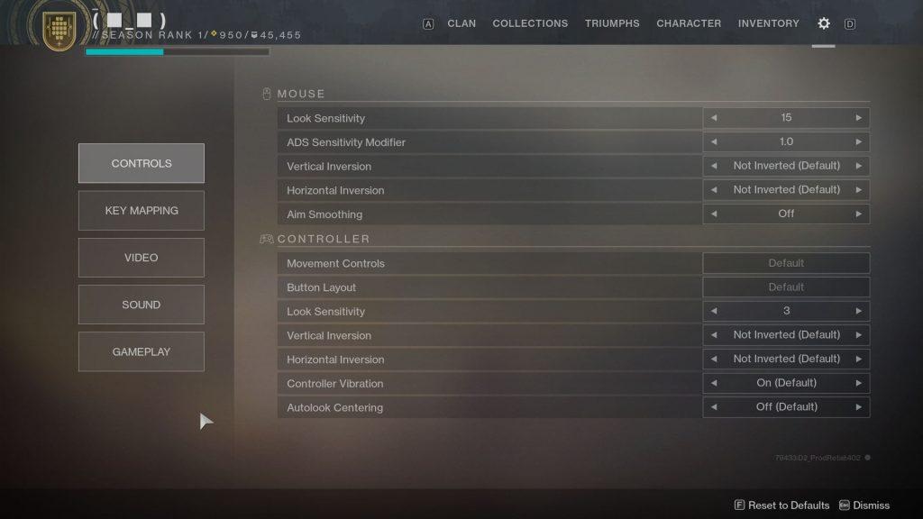 destiny 2 video settings reset after update error