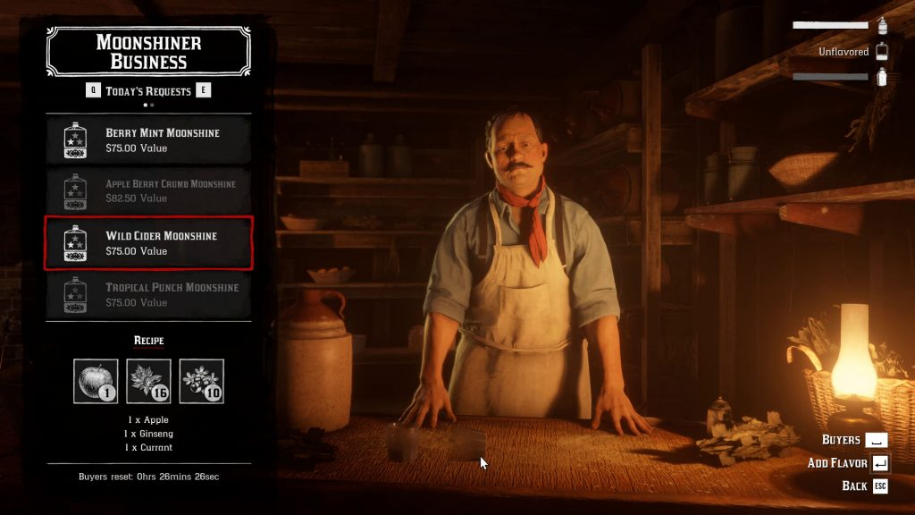 rdr2 online wild cider moonshine apple ginseng currant locations