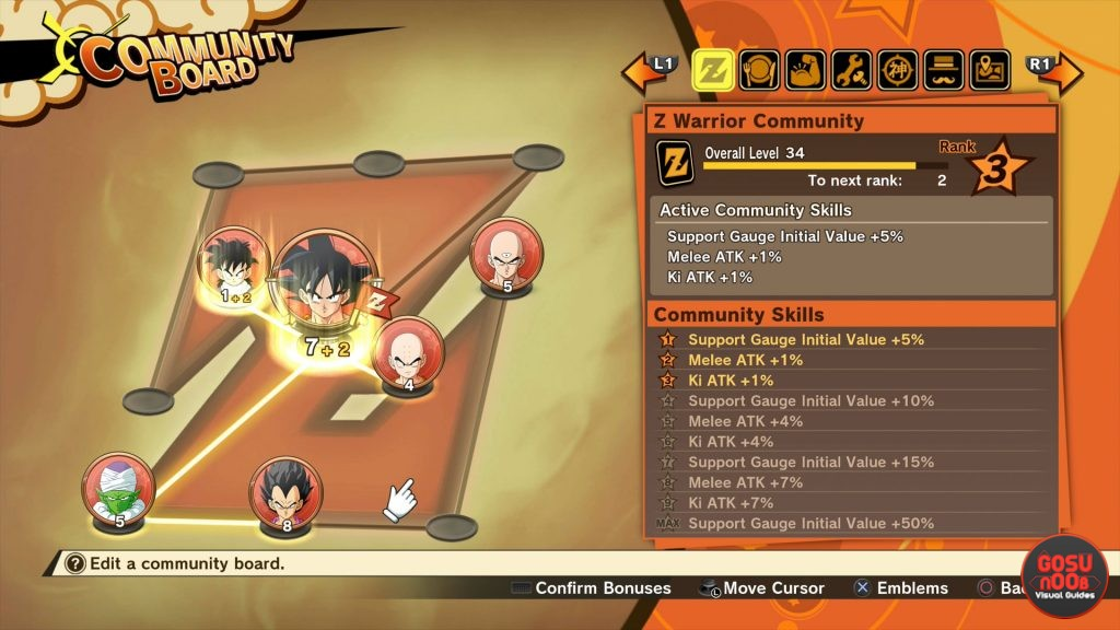 Dragon Ball Z Kakarot Community Board Soul Emblems