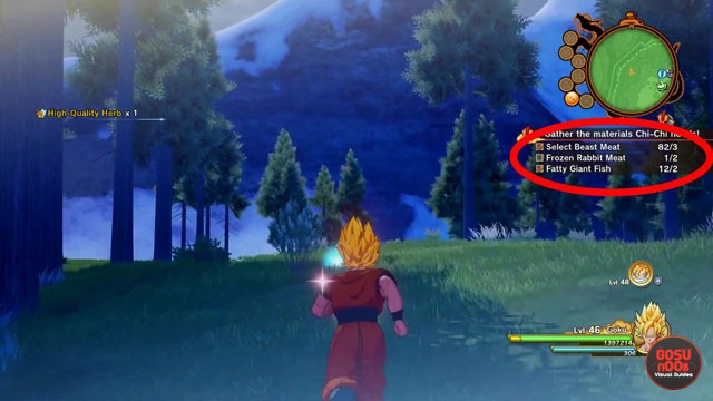 Frozen Rabbit Meat Location in Dragon Ball Z Kakarot