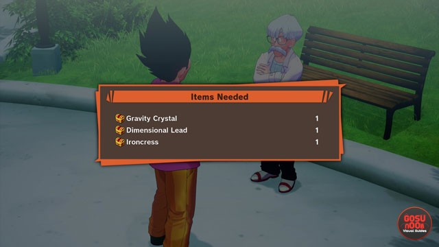 Gravity Crystal Dimensional Lead Ironcress Locations in DBZ Kakarot