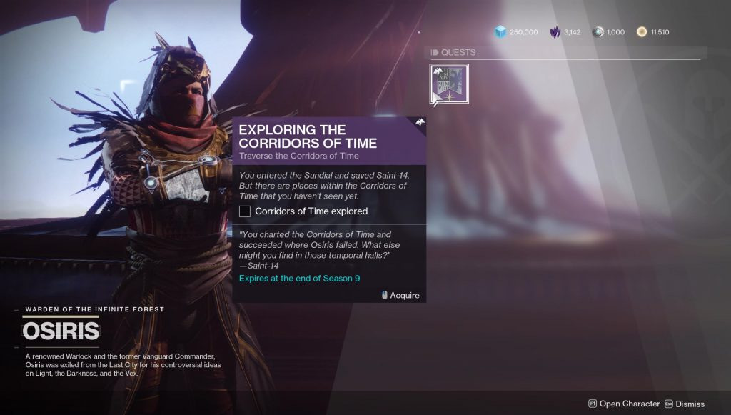 destiny 2 corridors of time codes solutions