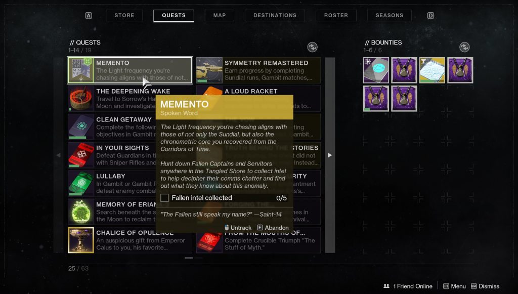 destiny 2 how to start memento bastion exotic quest