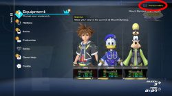 kingdom hearts 3 remind how to access premium menu