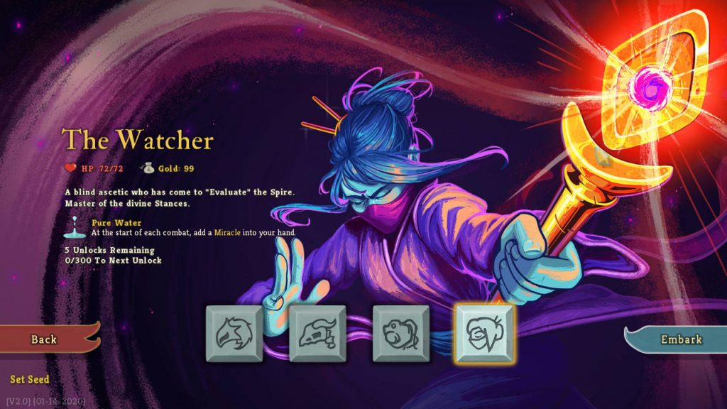 slay the spire update adds watcher character