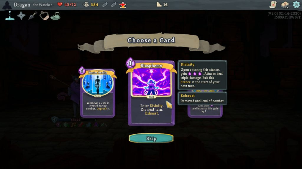 slay the spire watcher cards