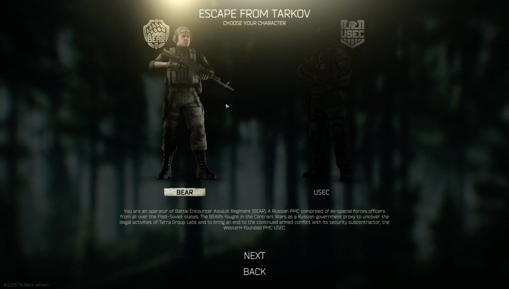 tarkov bear vs usec 2020