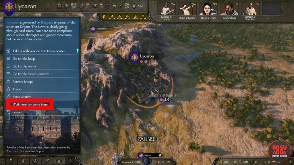How to Heal in Mount & Blade 2 Bannerlord
