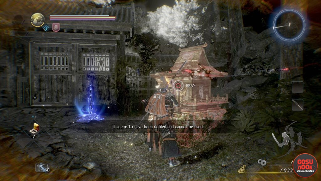 How to Pray at a Defiled Shrine in Nioh 2