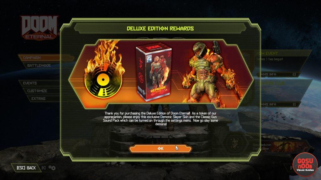 How to Redeem Deluxe & Preorder Items in Doom Eternal