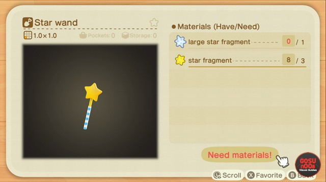 How to Register Outfits for Star Wand in ACNH