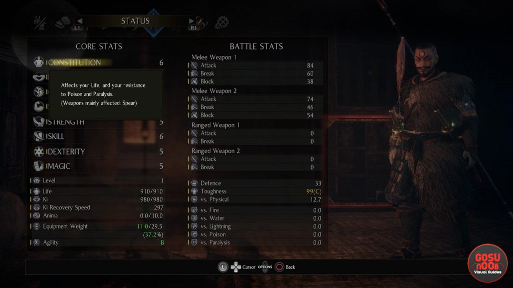 Nioh 2 Reset Skills & Level Guide