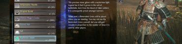 Nioh 2 Righteous Jasper Item How to Create Benevolent Grave