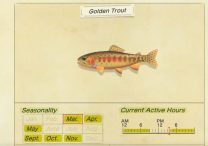 animal crossing new horizons golden trout