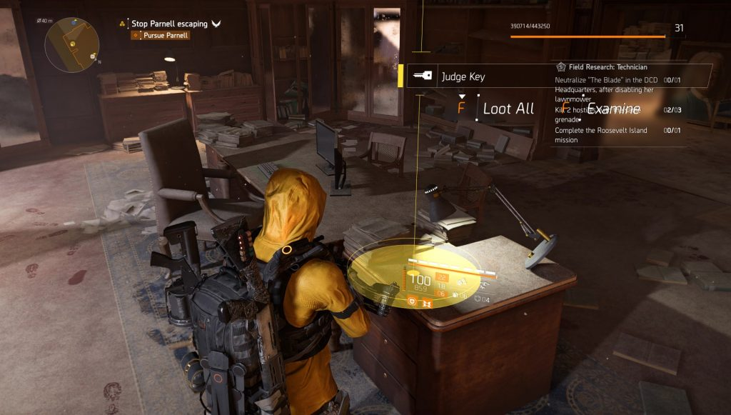 division 2 judge key theo parnell mission secret room location