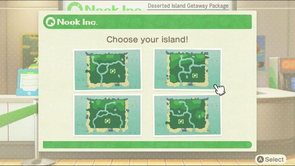 how to choose island animal crossing new horizons