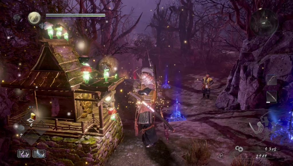 nioh 2 kodama locations forest veiled in darkness
