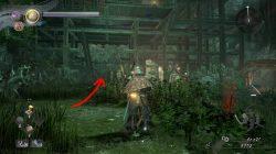 nioh 2 ninja's locks of hair dark omens location