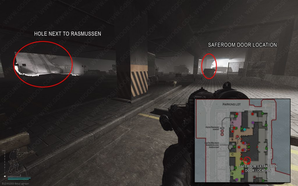 saferoom exfil door location and map
