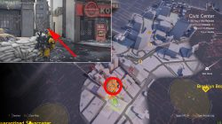 where to find civic center shd tech cache division 2