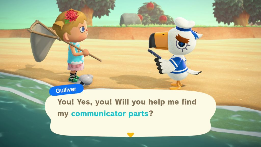 where to find communicator parts for gulliver animal crossing new horizons