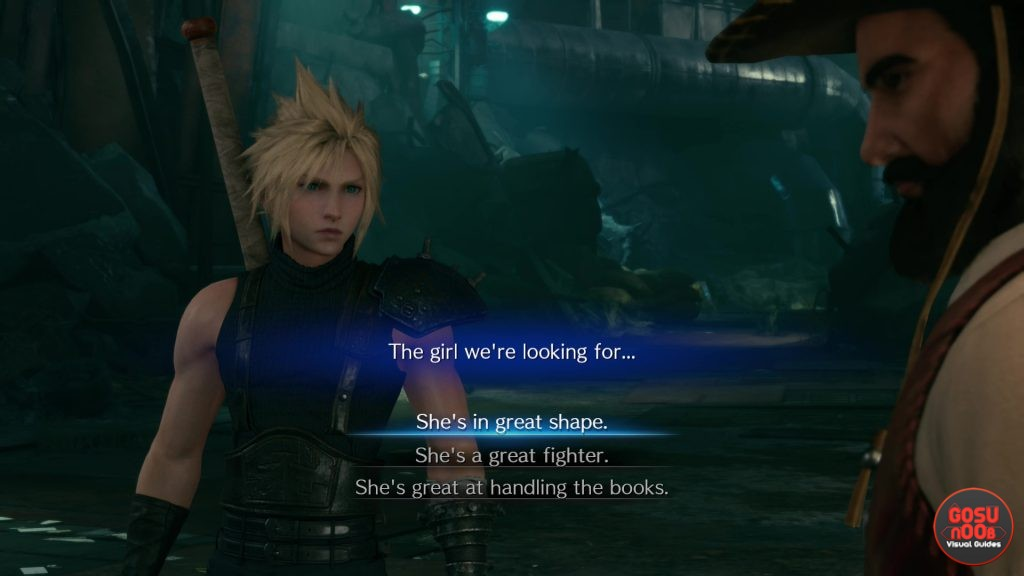 FF7 Remake Girl We're Looking For - Great Shape, Great Fighter, Handling the Books
