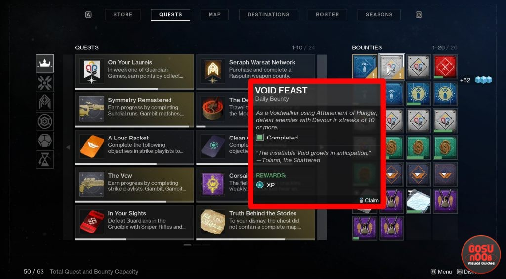 Void Feast Guardian Games Daily Bounty in Destiny 2