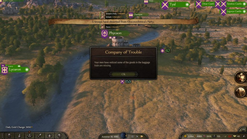 bannerlord company of trouble quest
