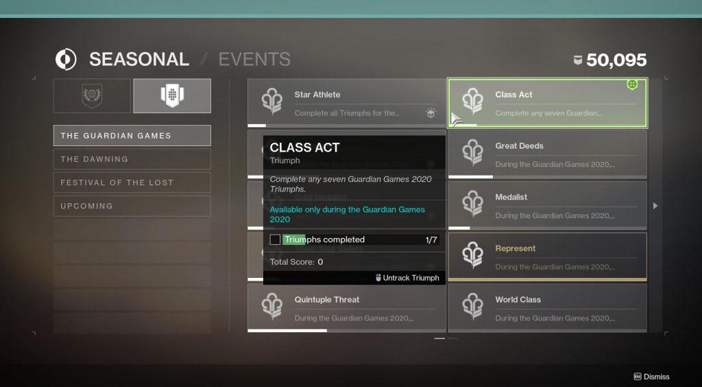destiny 2 class act triumph