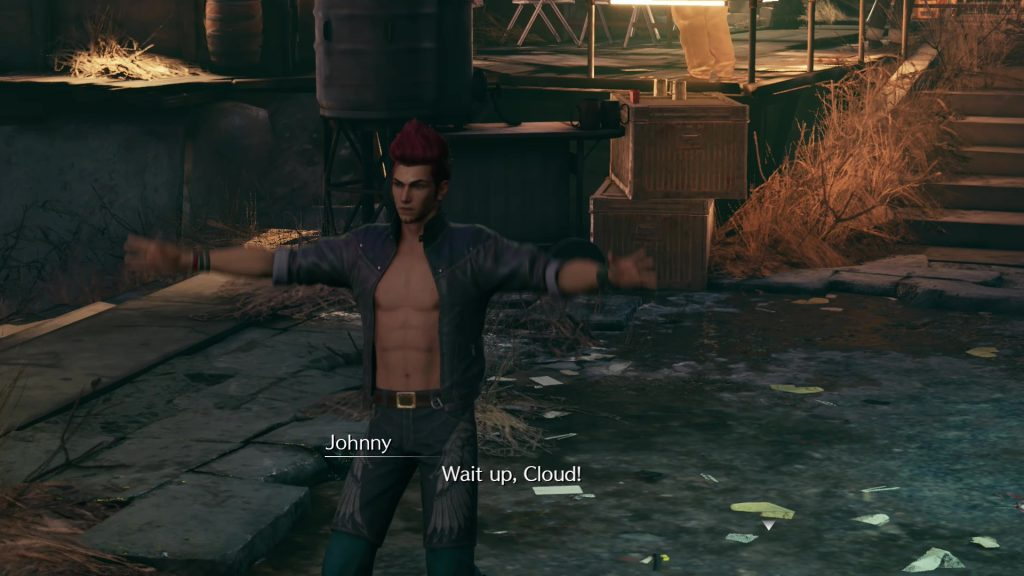 ff7 remake party never stops quest johnny not appearing