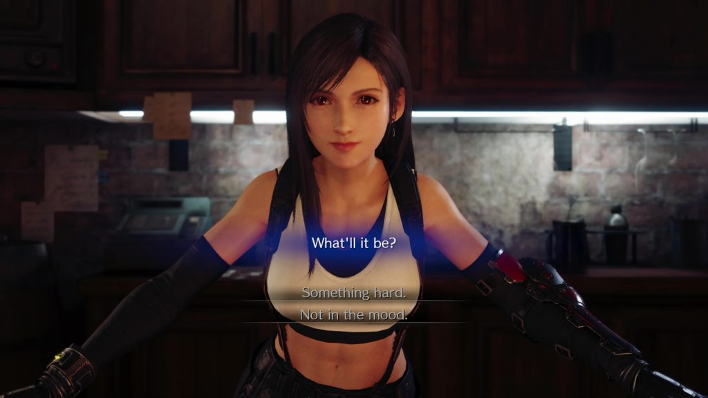 ff7 remake what'll it be something hard not in the mood