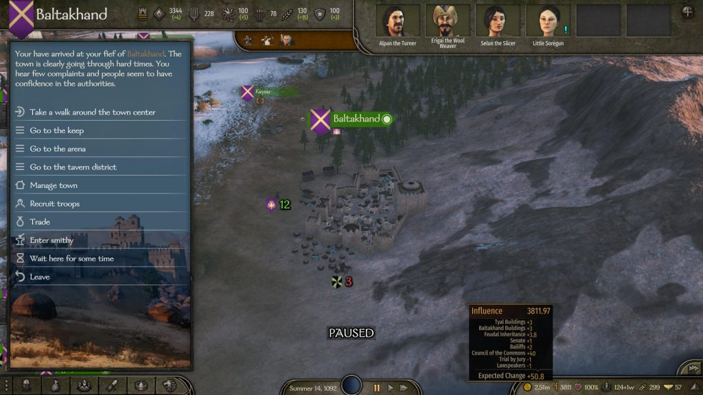 how to gain influence bannerlord