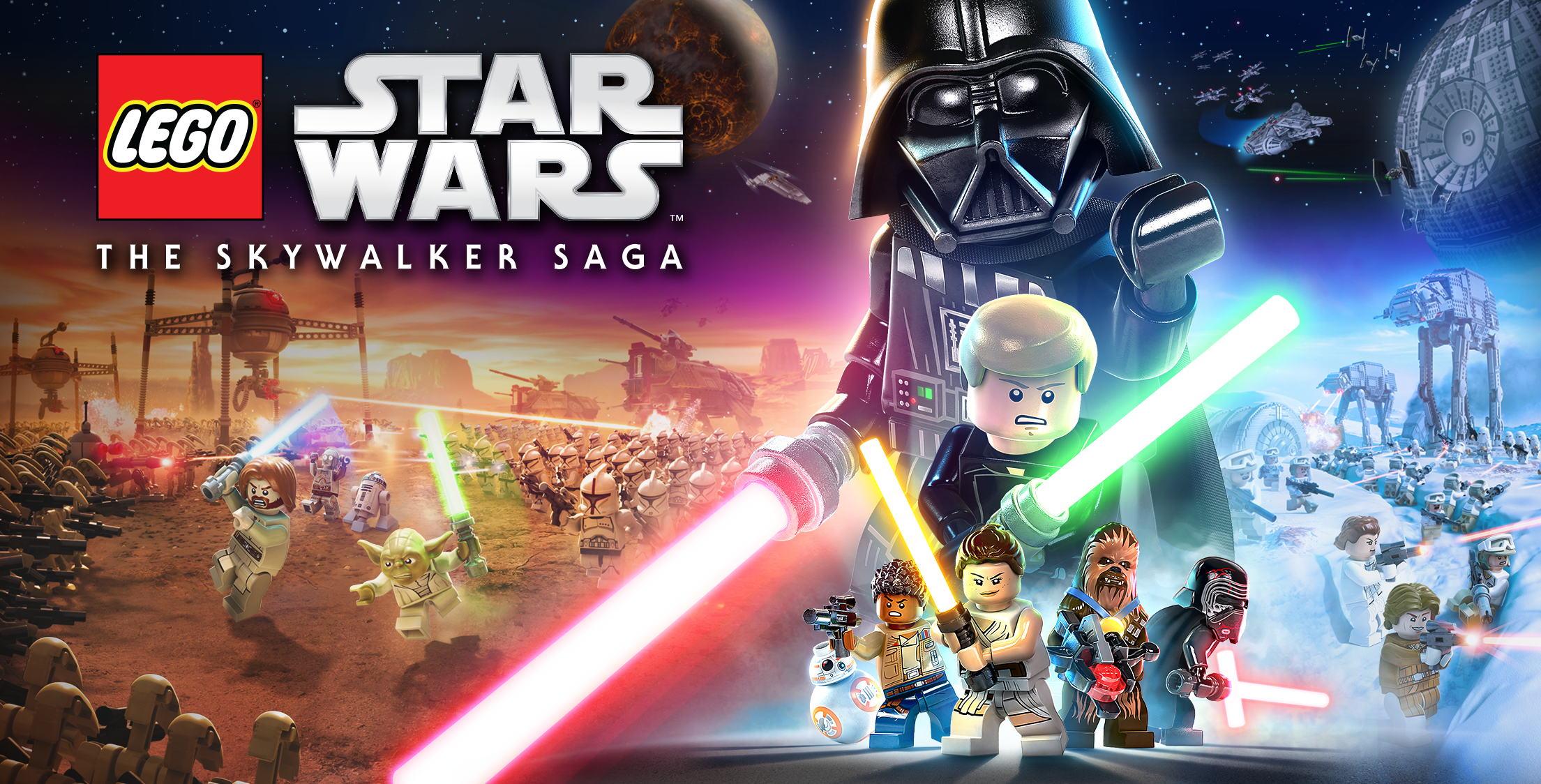 Official key art for LEGO Star Wars: The Skywalker Saga