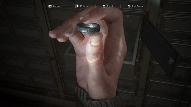 Engraved Ring Location So Great & Small Trophy in Last of us 2