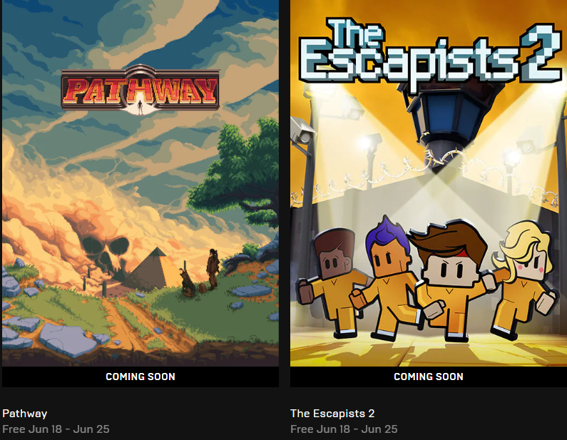 Epic Games Store Escapists 2 Pathway