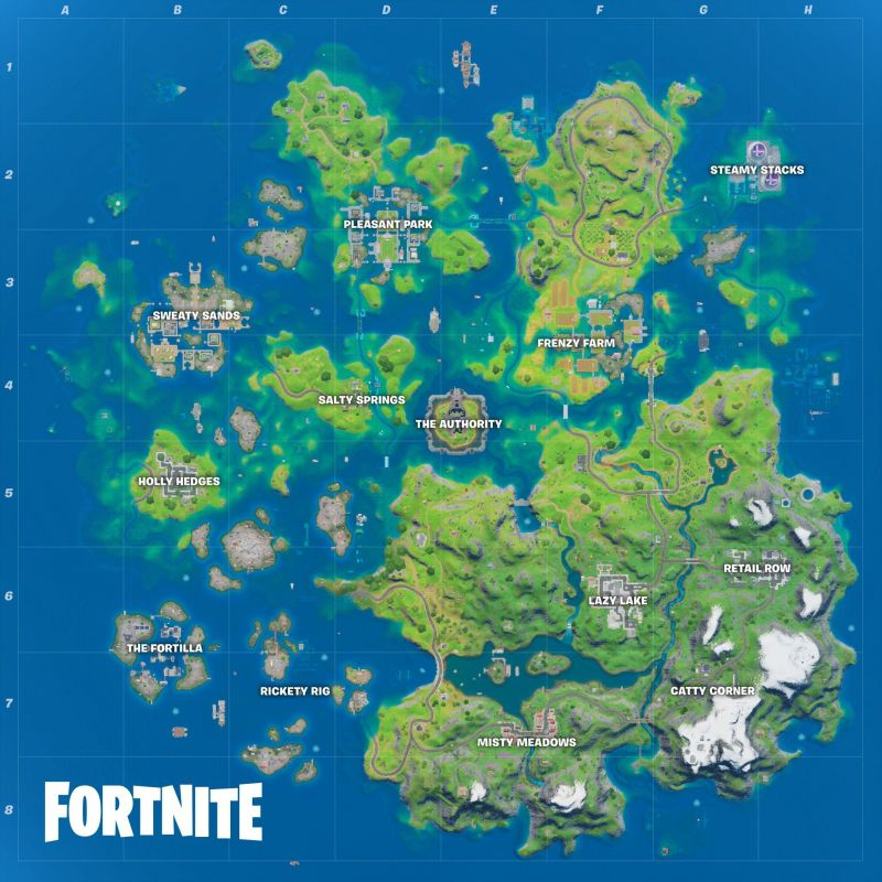 Fortnite Season 3 Map